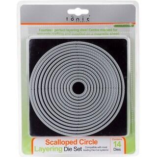 "Nesting Scalloped Circle 1"" To 5.50"" - Tonic Studios Layering Die Set"