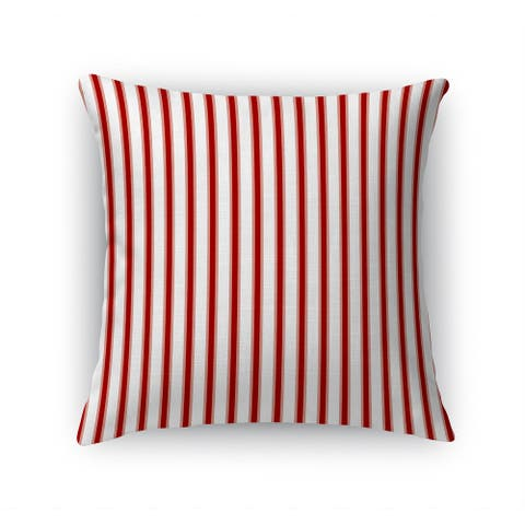 TICKING RED Accent Pillow By Terri Ellis