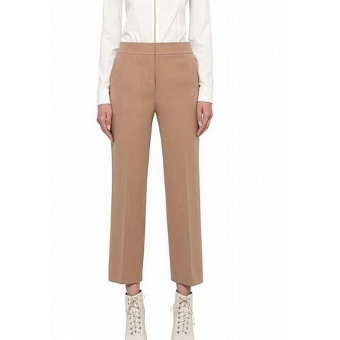 Akris Solid Women's Crop Dress Pants Trousers Wool