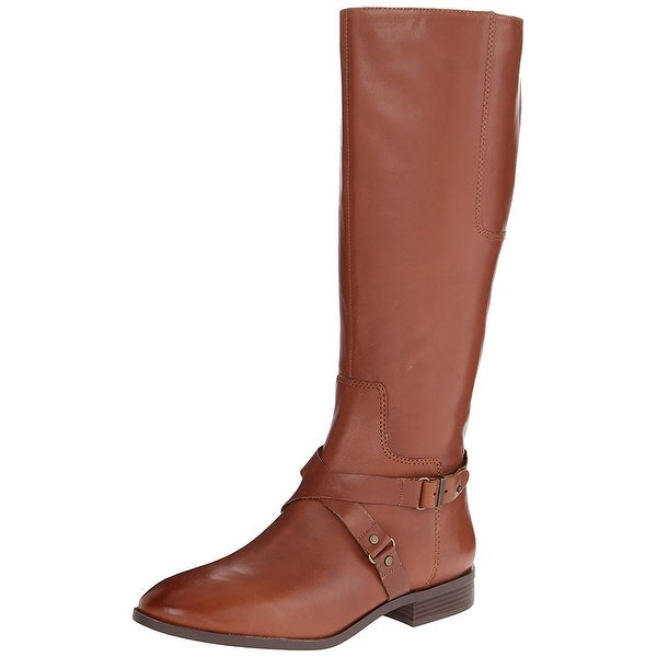 Nine West Womens Blogger Leather Almond Toe Mid-Calf Fashion Boots