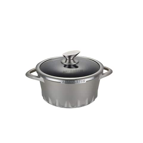 ARTMARTIN Non-Stick Ceramic Coated Stockpot & Glass Lid - 8.7 inch