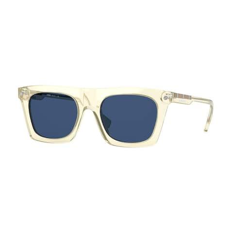 Burberry BE4318 389580 51 Transparent Yellow Man Rectangle Sunglasses