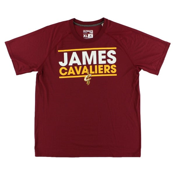 4cd7054fc Shop Adidas Mens Cleveland Cavaliers James Dassler T Shirt Red -  red/yellow/white - Free Shipping On Orders Over $45 - Overstock - 22615596