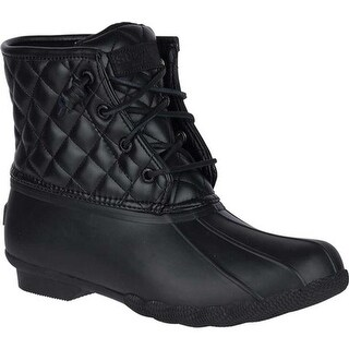 Sperry Top-Sider Women's Saltwater Duck Boot Black Quilted Synthetic