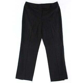 Designer NEW Solid Deep Black Women's Size 10 Straight Dress Pants