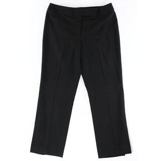 Tommy Hilfiger NEW Black Womens Size 4 Solid Straight Leg Dress Pants