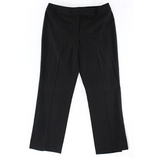 Tommy Hilfiger NEW Solid Black Women's Size 0 Straight Dress Pants