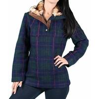 Black Mountain Ladies Plaid Pull-Over Jacket