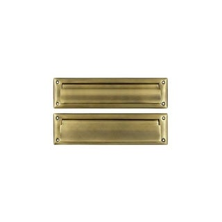 """Deltana MS212 13-1/8"""" x 3-5/8"""" Solid Brass Mail Slot with Interior Flap"""