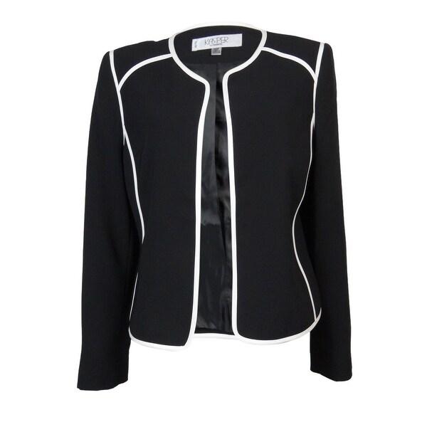 Kasper Women's Stained Glass Blazer - black/vanilla ice - 10P