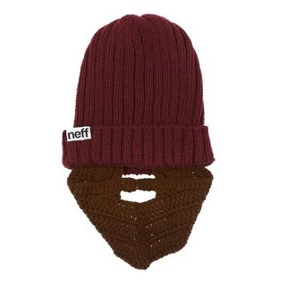 Neff Mens Manly Ribbed Knit Bearded Beanie Hat - o/s