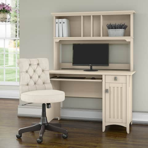 Salinas 48W Computer Desk with Hutch and Chair by Bush Furniture
