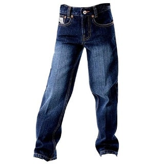 Cinch Western Denim Jeans Boys White Label Dark Indigo MB12882002