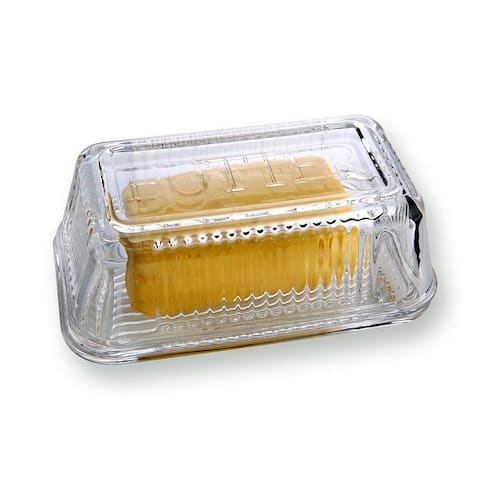 Butter Dish with Cover - Clear