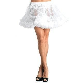 Women's Petticoat Dress, White