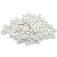 Dress It Up Embellishments-Round White Buttons