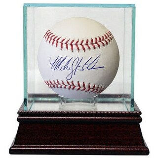 Mike Stanton signed Official Major League Baseball w/ Glass Case (Atlanta Braves/New York Yankees)