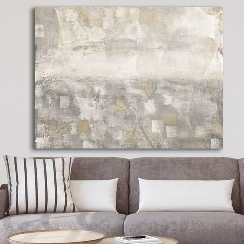Porch & Den 'Gray Abstract Watercolor' Gallery-wrapped Canvas - Grey