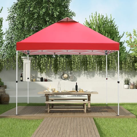 Ainfox 10x10ft Outdoor Pop Up Canopy Tent