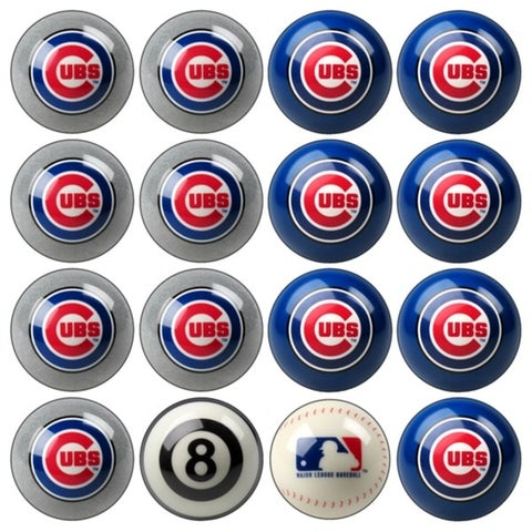 MLB Chicago Cubs Baseball Billiard Balls Complete Set of 16 Balls - White