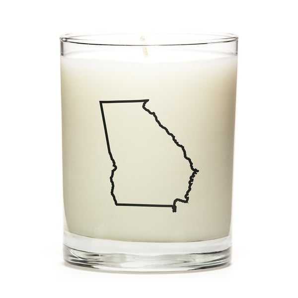 Custom Candles with the Map Outline Georgia, Pine Balsam