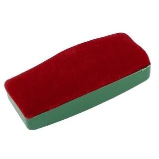 Unique Bargains Green Plastic Shell Red Velvet Blackboard Cleaning Eraser Cleaner