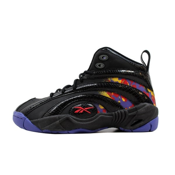 Reebok Grade-School Shaqnosis OG Black/Grey-Purple-Red-Yellow Shaquille