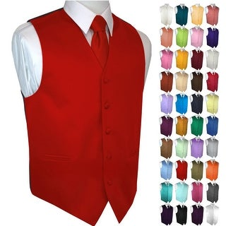 Men's Formal Tuxedo Vest, Tie & Pocket Square Set. Wedding, Prom, Cruise, Special Occasion