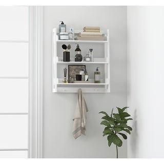 Link to UTEX 3 Tier Bathroom Shelf Wall Mounted with Towel Hooks, Bathroom Organizer Shelf Over The Toilet Similar Items in Bathroom Furniture