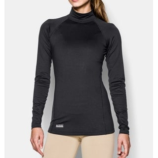Under Armour Women's ColdGear® Infrared Tactical Mock Tactical Long Sleeve Shirt - Black - M