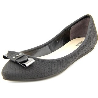 Bar III Penguin Women Pointed Toe Synthetic Black Flats