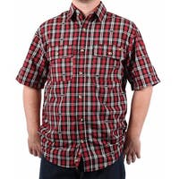 Case IH Men's Spread Collar Plaid Shirt