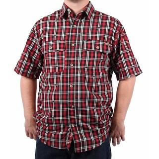 Case IH Men's Spread Collar Plaid Shirt