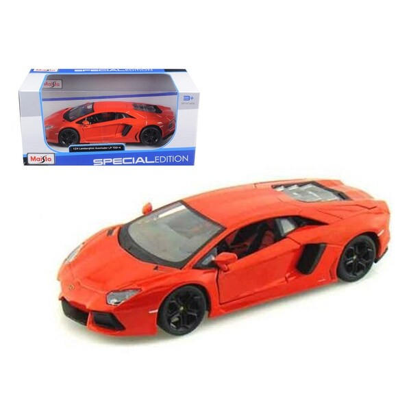 Shop Lamborghini Aventador Lp700 4 Orange 1 24 Diecast Model Car By