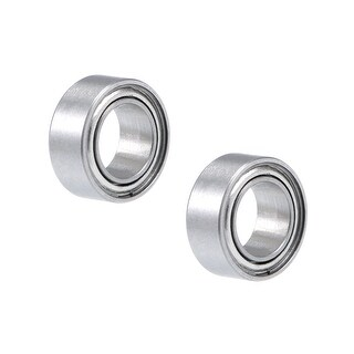 "R156ZZ Deep Groove Ball Bearing 3/16""x5/16""x1/8"" Shielded Chrome Bearings 2pcs - 2 Pack - R156ZZ (3/16""x5/16""x1/8"")"