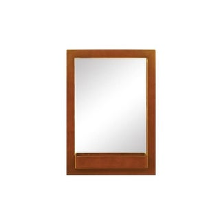 "DecoLav 9745 22"" Solid Wood Mirror with Integrated Storage Shelf - N/A"