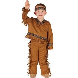 Fun World Native American Boy Toddler Costume - Brown