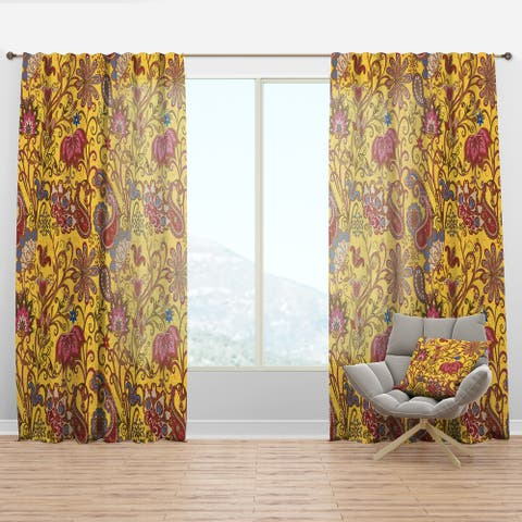 Designart 'Pattern in Ethnic Traditional Style' Bohemian & Eclectic Curtain Panel