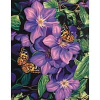 """Clematis & Butterflies - Paint Works Paint By Number Kit 11""""X14"""""""