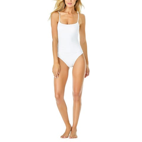 Anne Cole Live-In-Color Shirred One-Piece