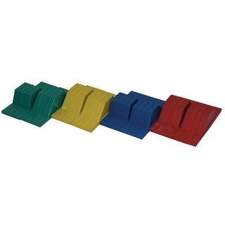 Sportime Rubber Starting Blocks, 9 x 14 x 16 Inches, Assorted Colors, Set of 8
