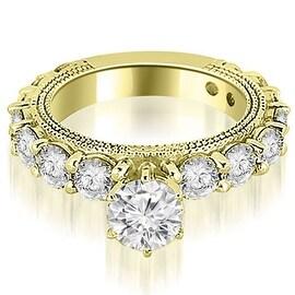2.75 cttw. 14K Yellow Gold Antique Round Cut Diamond Engagement Ring