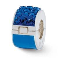 Sterling Silver Reflections Blue Swarovski Elements Bead (4mm Diameter Hole)