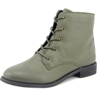 Shellys London Proskar Women Round Toe Leather Green Ankle Boot