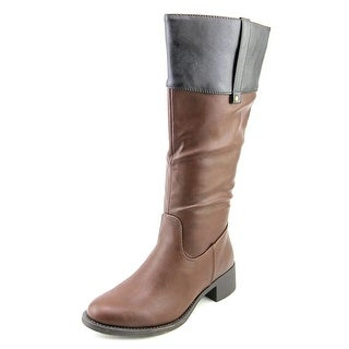 Refresh Alto-03 Women Round Toe Synthetic Brown Mid Calf Boot