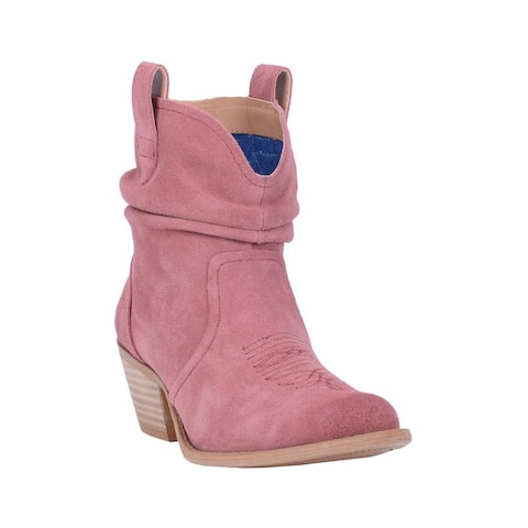 "Dingo Fashion Boots Womens Jackpot Round Toe Pull On 6"" Shaft"