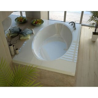 "Avano AV4272VCAL St.Croix 70-1/2"" Acrylic Air Bathtub for Drop-In Installations with Center Drain - White"