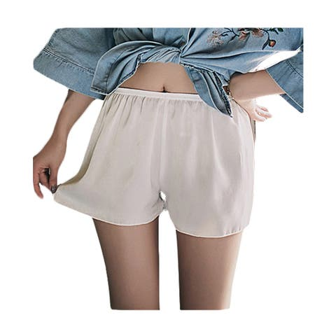 Women Lightweight Satin Everyday wear Pettipant Half Slip Short