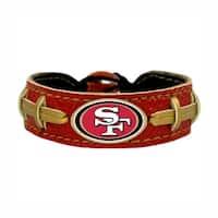 d375c2b61e1b6 SAN Francisco 49ers Team Color NFL Gamewear Leather Football Bracelet