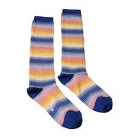 Missoni GM00CMD5453 0002 Blue/Yellow Knee Length Socks
